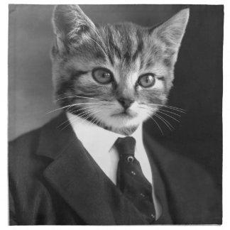 Gentleman Cat #1 Napkin