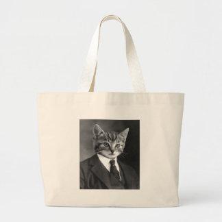 Gentleman Cat Large Tote Bag