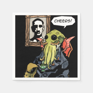 Gentleman Cthulhu: Cheers - Cocktail Napkin Paper Napkins