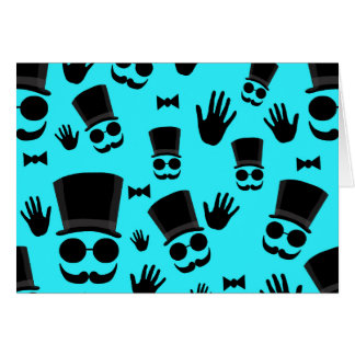 Gentleman - cyan pattern card