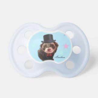 Gentleman ferret baby pacifier