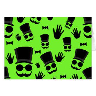 Gentleman - green pattern card