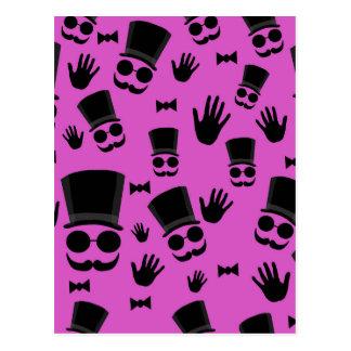 Gentleman - magenta pattern postcard
