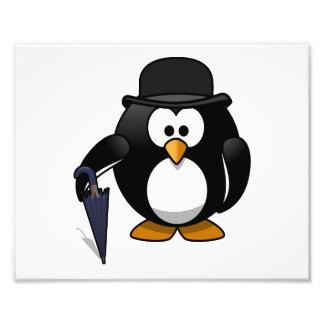 Gentleman Penguin Cartoon Art Photo Print