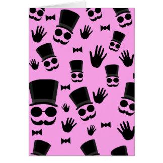 Gentleman - pink pattern card