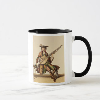 Gentleman Playing the Angelica, fashion plate, c.1 Mug