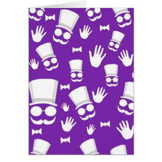 Gentleman - purple pattern card