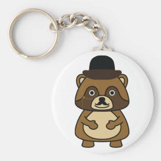 Gentleman Racoon Keychain