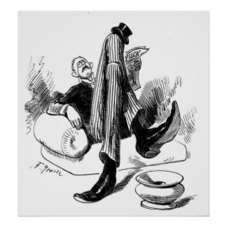 Gentleman Reading 1880 Poster