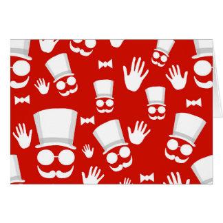 Gentleman - red pattern card
