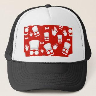 Gentleman - red pattern trucker hat