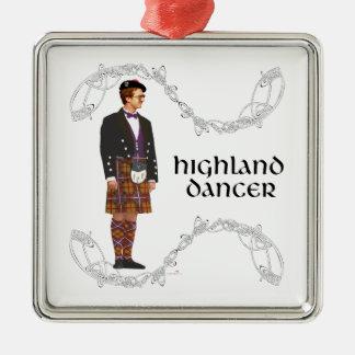 Gentleman Scottish Highland Dancer Metal Ornament