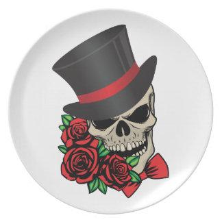 Gentleman Skull Plate