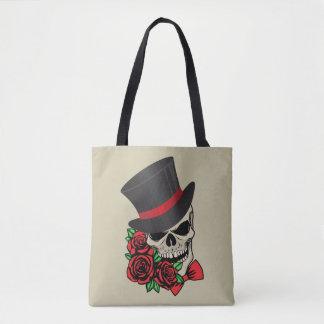 Gentleman Skull Tote Bag