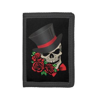 Gentleman Skull Tri-fold Wallets
