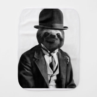 Gentleman Sloth #2 Burp Cloth