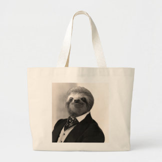 Gentleman Sloth #4 Large Tote Bag