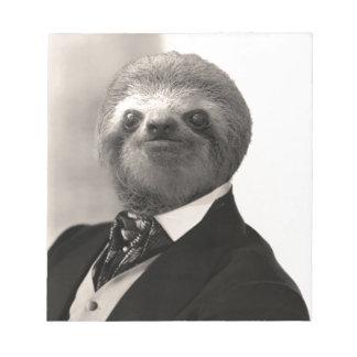 Gentleman Sloth #4 Notepad