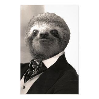 Gentleman Sloth #4 Stationery