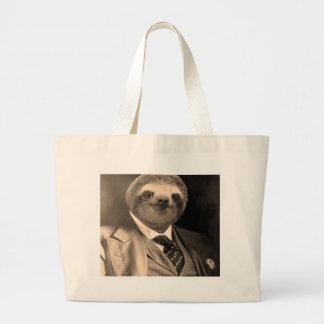 Gentleman Sloth 7# Large Tote Bag