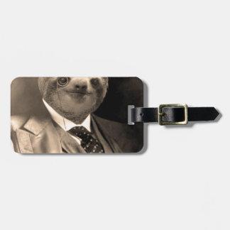 Gentleman Sloth 7# Luggage Tag