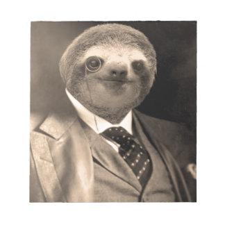 Gentleman Sloth 7# Notepad