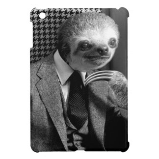 Gentleman Sloth sitting in Fancy Chair iPad Mini Case