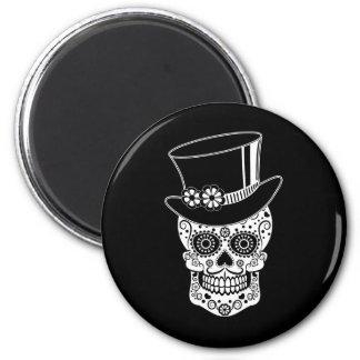 Gentleman Sugar Skull-01 2 Inch Round Magnet
