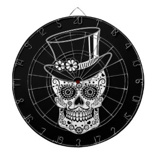 Gentleman Sugar Skull-01 Dartboard
