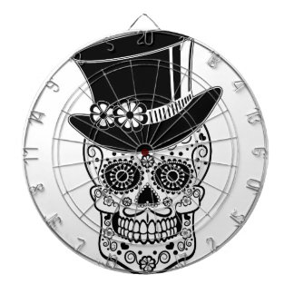 Gentleman Sugar Skull-01 Dartboard With Darts