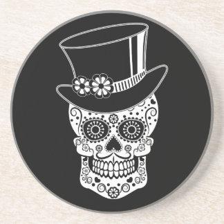Gentleman Sugar Skull-01 Drink Coaster