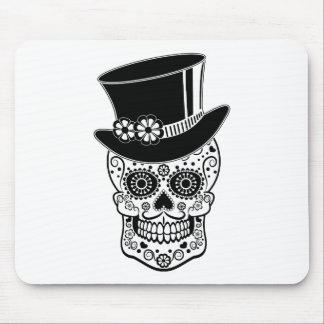 Gentleman Sugar Skull-01 Mouse Pad