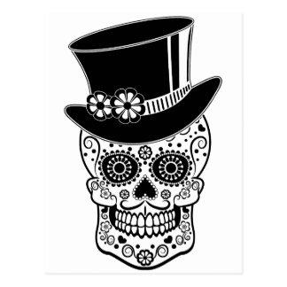 Gentleman Sugar Skull-01 Postcard