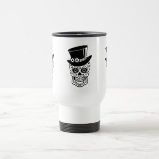 Gentleman Sugar Skull-01 Travel Mug