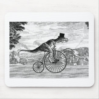 Gentleman T-Rex's Sunday Ride Mouse Pad