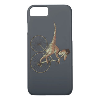 Gentleman Velociraptor Riding A Unicicyle iPhone 7 Case