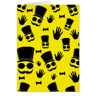 Gentleman - yellow pattern card