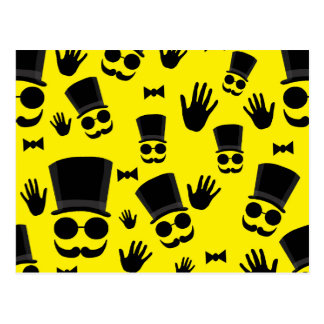 Gentleman - yellow pattern postcard