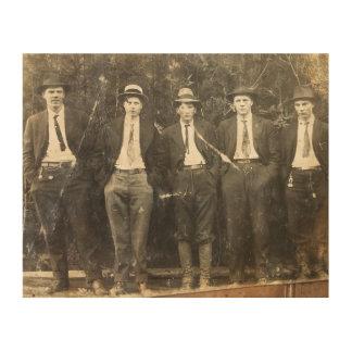 Gentlemen moonshiners wood wall art