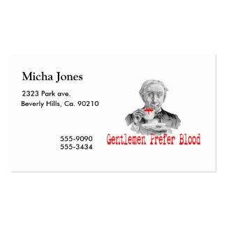 Gentlemen Prefer Blood Business Card