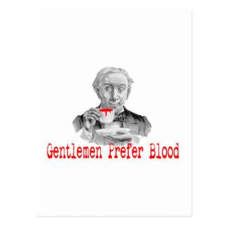 Gentlemen Prefer Blood Postcard