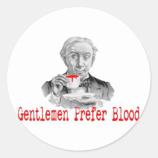 Gentlemen Prefer Blood Round Sticker