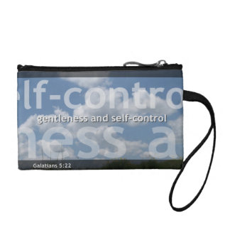 Gentlness and self-control Key Coin Clutch Coin Purse