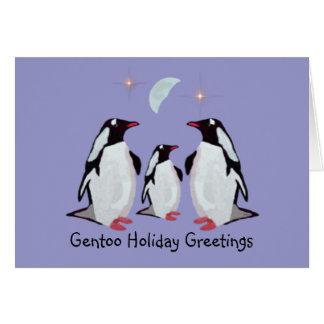 Gentoo Penguin Greetings Card