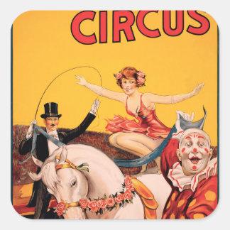 Gentry Bros. Circus Square Sticker