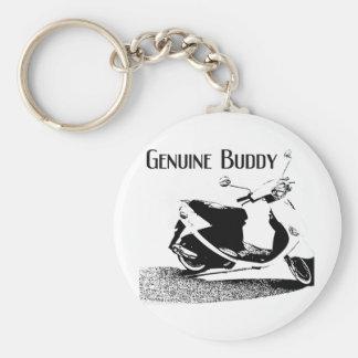 Genuine Buddy Black Basic Round Button Keychain