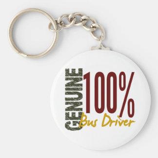 Genuine Bus Driver Basic Round Button Keychain