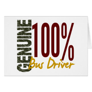 Genuine Bus Driver Cards