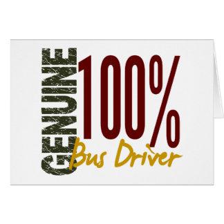 Genuine Bus Driver Greeting Card