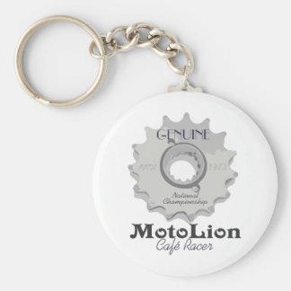 Genuine Cafe Racer Basic Round Button Keychain